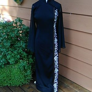 Alfred Shaheen Vintage Black Dress